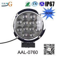 High Quality Round Shape Ce Rohs Listed Waterproof 60W Tractor Led Work Light