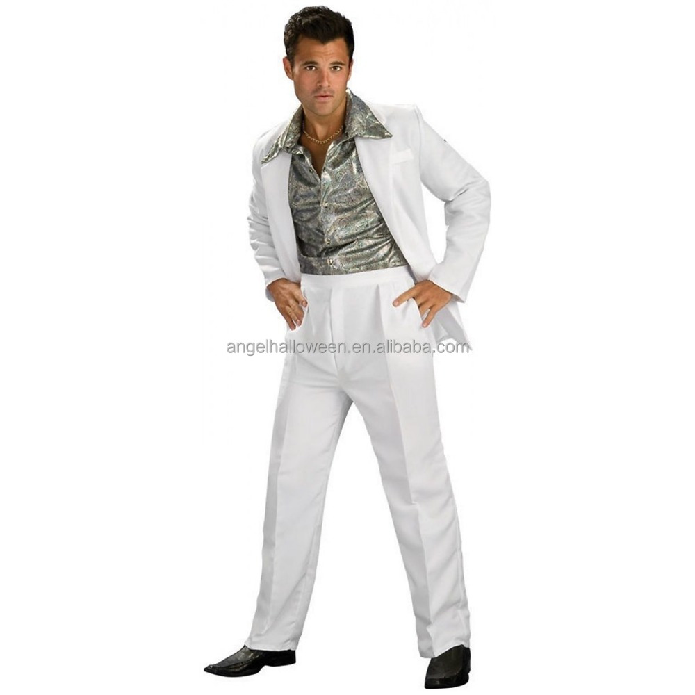 Adult disco 70's disco dance costume Halloween Costume Wholesale for adult men AGM2064