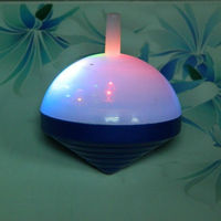 Plastic spinning top toys, multi color led light