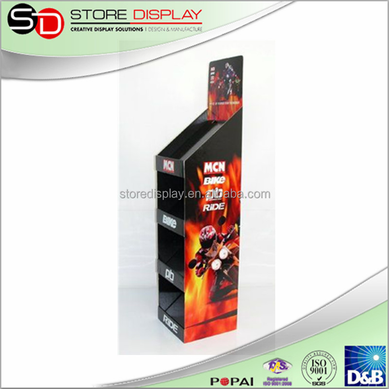 Pop Display Floor Pallet Display For Sport Products, Floating shoes pop display, bike accessories display stand