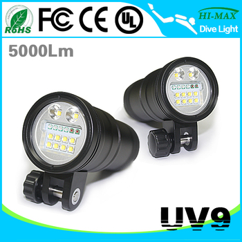 5000 Lumen LED Diving Flashlight Waterproof 100 meters
