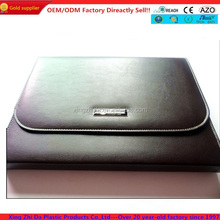 2014 classic design leather book cover with zipper