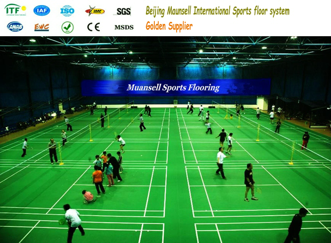 long life at low cost pvc sports flooring for badminton court used