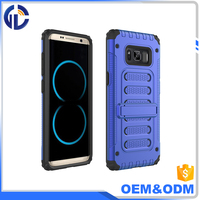 cell phone case Manufacturer High Quality Kickstand Shockproof Case for S8 hybrid two in one cases with kickstand