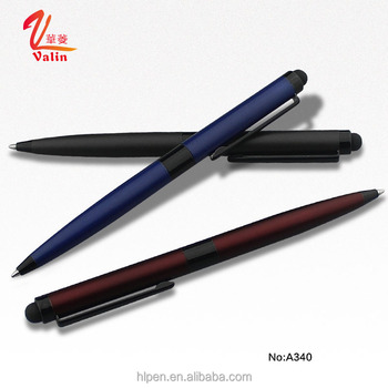 2 in 1 promotional metal stylus pen touch screen ballpoint pen printed customized logo