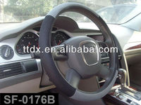 New design fashion fabric and novelty design steering wheel cover best steering wheel cover