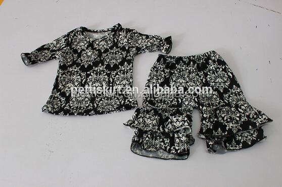 Wholesale kids sleepsuit pants floral print baby hot shorts baby clothing