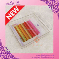 18 Colors Available 0.07mm Colored Mink Eyelash Extensions