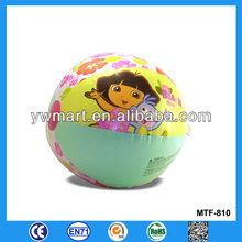 Colorful inflatable PVC beach ball, PVC inflatable beach ball girls
