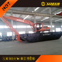 china swamp buggy excavator for two use SX400SD
