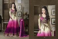 Bollywood Icon Shraddha Kapoor Velvet Net Anarkali Suit Boutique Collection