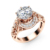 2018 new product hollow design zircon-studded plated rose gold rings