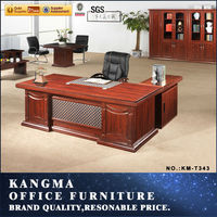 managing directors office furniture design;modern executive desk office table design;antique solid wood executive desk KM-T343