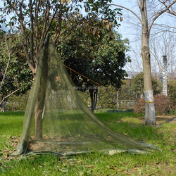 tricot fabric polyester army green triangle mosquito net tent made in China