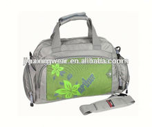 Fashion duffle bag with shoe pocket for sports and promotiom,good quality fast delivery