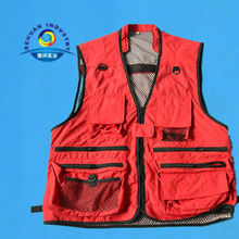 S,M,L,XL,XXL size Fishing Vest with red color