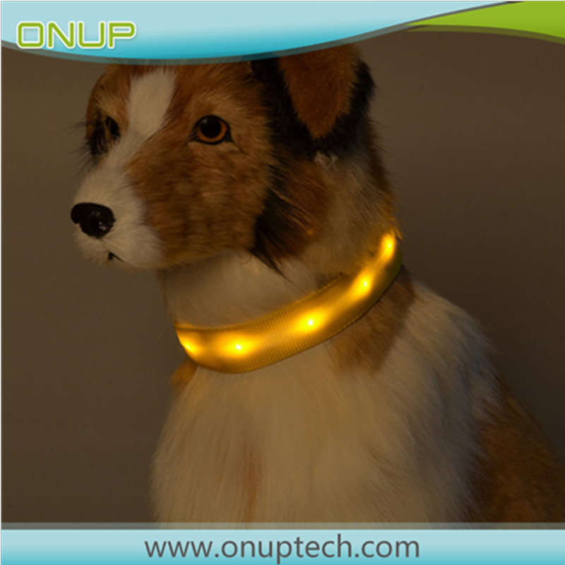 yellow color usb rechargeable christmas light dog collar german shepherd dogs for sale dog collar