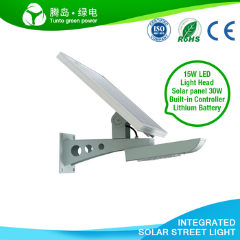 2017 New Look Cheap All In One Solar LED Street Lights Adjustable Solar panel Wall Lamp Price