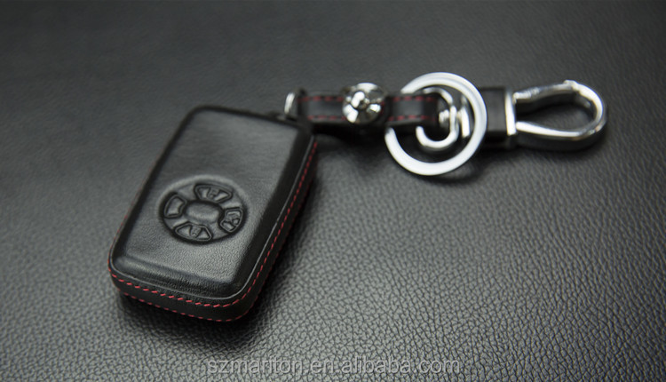 Hot Sale Toyota RV4car key leather case 4 button leather metal holder with box