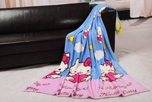 2015 new style hello kitty fashion print bed sheets High quality flannel fleece blanket