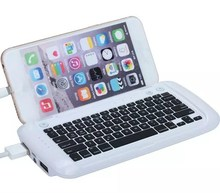 Portable Power Bank With Mini Bluetooth V3.0 Keyboard For Iphone 6 Plus