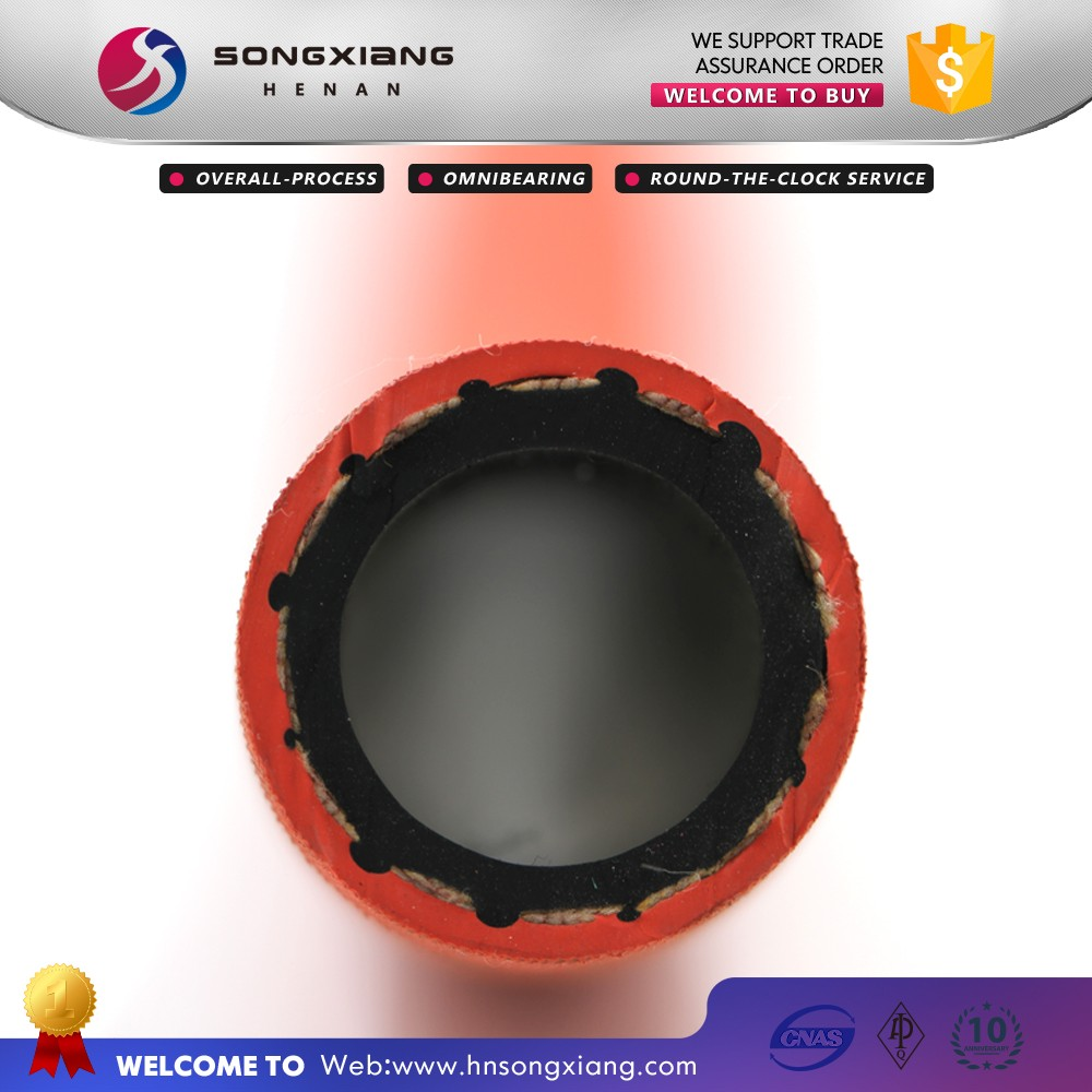 Flexible rubber red color 17bar steam hose