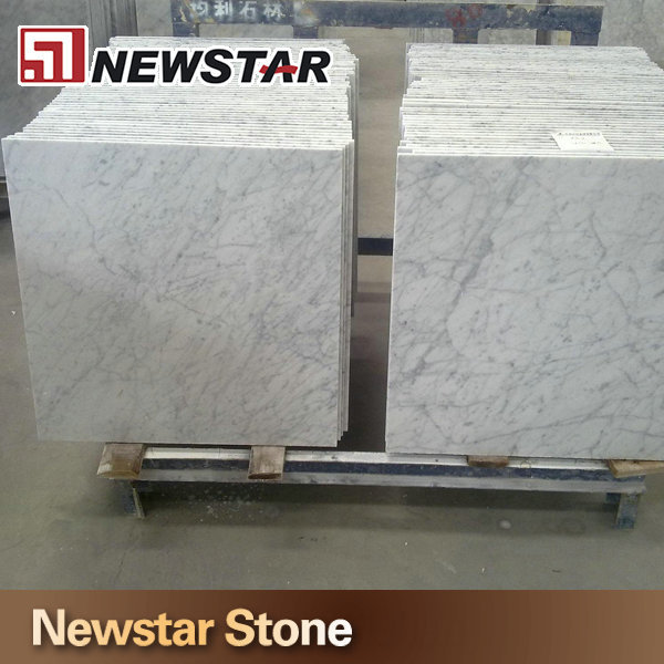 Newstar imported bianco carrara white marble tiles 24*24