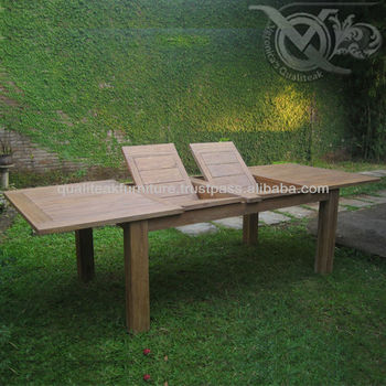 Garden Furniture Teak Outdoor Double Extension Table VXT 012