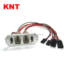 KNT(KT-6303) Heavy Duty Metal Switch harness RC airplane Power Switch with JR Plug 22AWG 20cm silicone wire