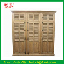 2016 Antique bedroom small style oak furniture wood wardrobe (RF002)