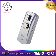 Hot sale stainless steel panel metal door exit push button switch Stainless Steel Waterproof Door Switch Button