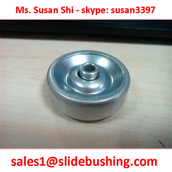 POLYCARBONATE + BEARING ROLLER 38 x 12.5-13 x 6.2 x 25 inside shaft ID=6.2mm Pressed Steel Skate Wheel Quotation