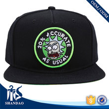 China factory Guangzhou Shandao embroidery breathable cotton custom snapback cap