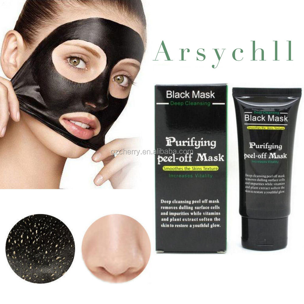 private label natural deep cleansing peel off charcoal blackhead remover black mask