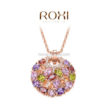 ROXI rose gold best friend color crystal necklaces for women wholesale jewelry