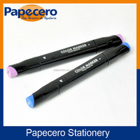 High Quality Two-tip Permanent Art Paint Marker with Square Barrel