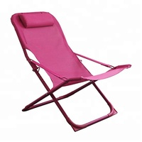 Best option outdoor patio furniture chinese factory direct wholesale cheap sling beach chair fold chairs with headrest