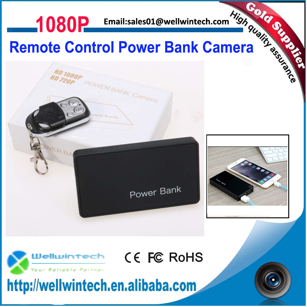 1080P Full HD DVR Mini Hidden Real PowerBank Camera With Remote Control and Motion Detection Function