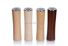 Enviorment-friendly wooden power bank round shape 2600mah,Wood power bank battery charger