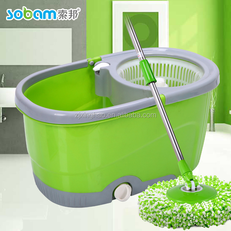 2016 New Household 360 Rotating Hand Press Folding Spin Mop