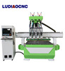 woodworking furniture making four spindle automatic CNC router machine for cabinet door