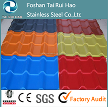 prepainted zinc corrugated gi colorful roofing sheets