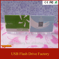 Business card style usb pen drive
