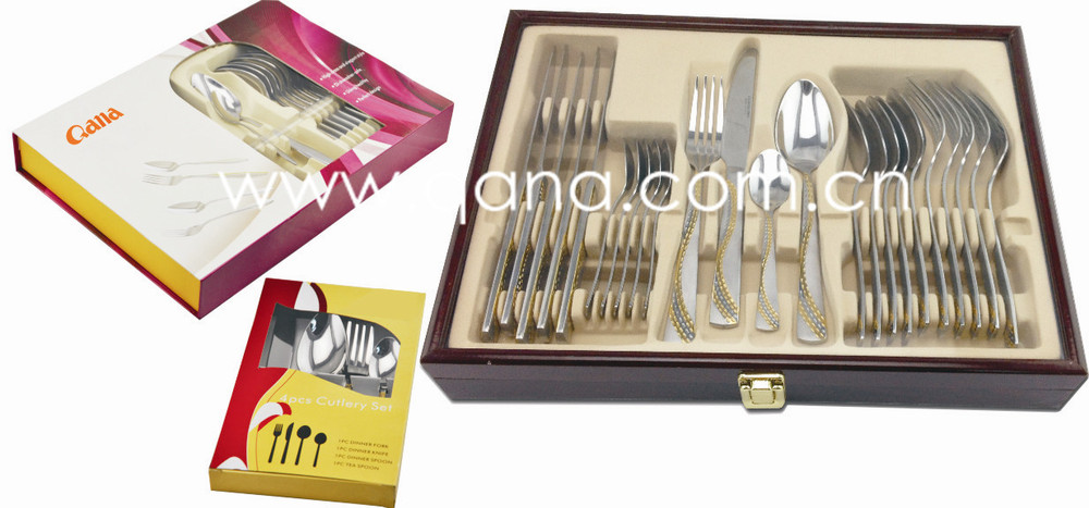 High Grade Elegant Wedding Gift Cutlery Set Stainless Steel Flatware ...