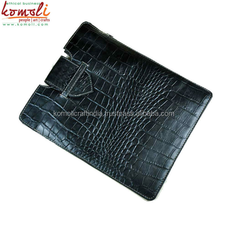 Genuine Leather Crocodile Texture Hot Black Tablet cover