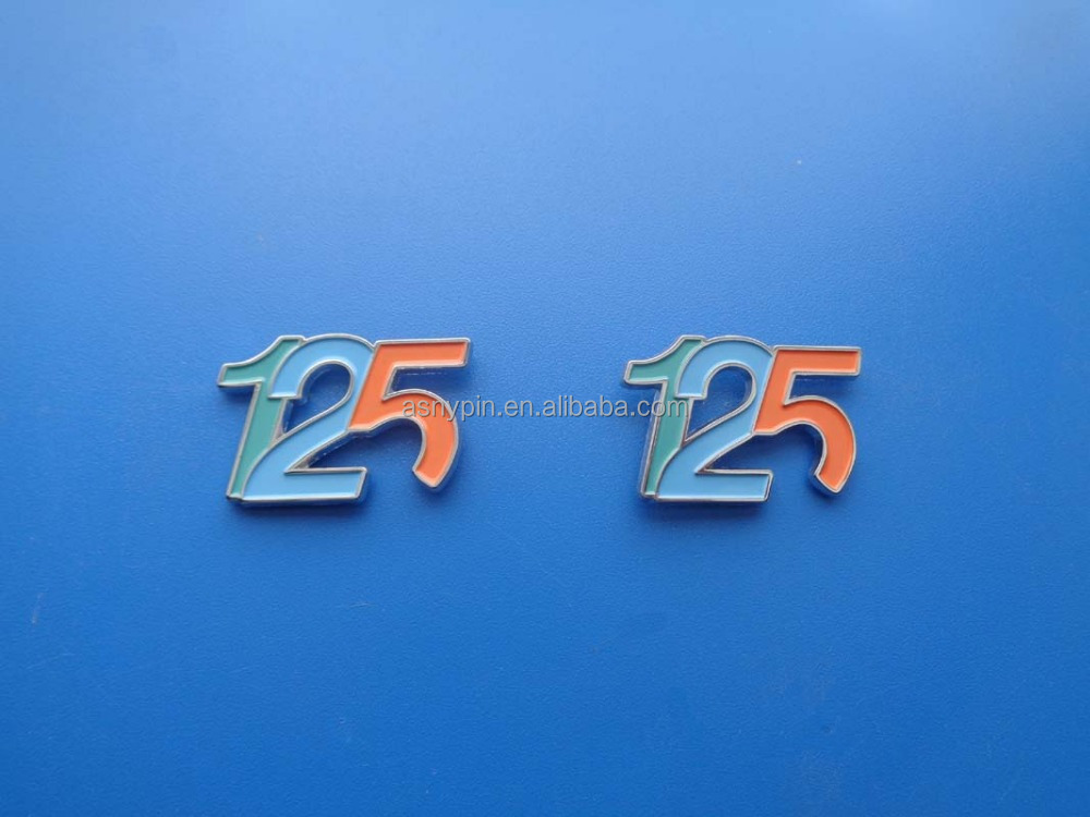 soft enamel anniversary souvenir number 125 lapel pin badge