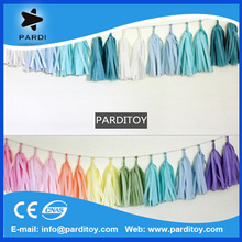 Colorful party tissue paper tassel garland decoration