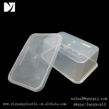 yiqiang rectangle 1000ml plastic containers for foods