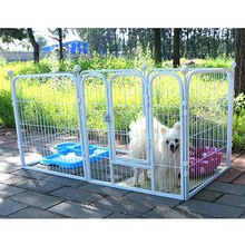Galvanized steel heated large dog kennel with devider HMD006
