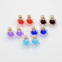 Mixed Grade A Rhinestone Resin Ball Stud Earrings